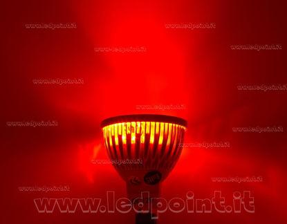 Image de Spot encastré 4x1W 12V AC/DC avec culot  MR16 (GU5.3), lumière rouge