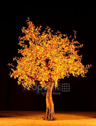 Image de Érable haut 2,8 m feuilles jaunes 24V avec câbles cachés