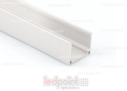 Image de Barre de fixation en aluminium, 1m, pour Led Neon Flex 17mm