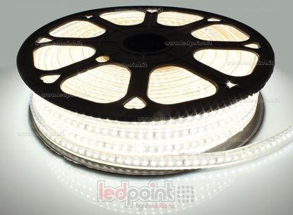 Image de Ruban led 30m blanc naturel 4000-4250K 2835 120led/m 230V 15W/m, PCB blanc IP65 Honglitronic