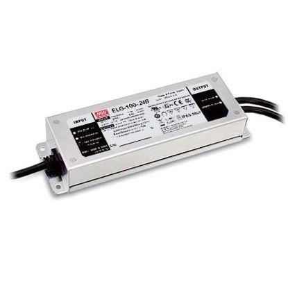 Image de Transformateur Mean Well, 24V, 100W, IP67 avec entrée (0~10Vdc, PWM ou résistance), IP67 (ELG-100-24B-3Y)