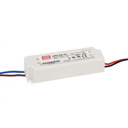 Image de Transformateur IP67 Mean Well, 20W 12V (LPV-20-12)