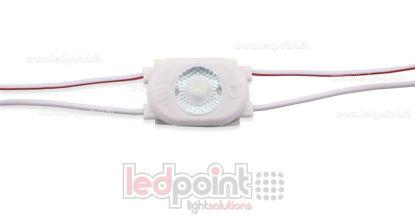 Image de Module led 2835, 0,5W 12V, blanc froid 6000-6500K, IP65 avec lentille 165°
