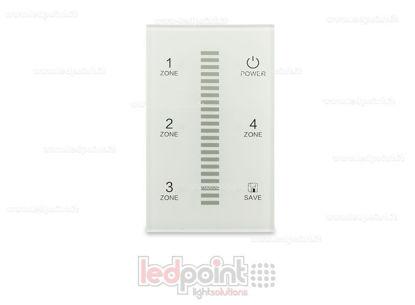 Image de Télécommande murale tactile monocouleur 4 zones 1 scène RF 2,4GHz (100-277V AC) pour technologie ZigBee