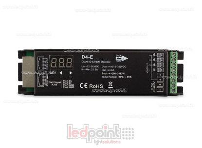 Image de DMX 512 & RDM décodeur, 4 canaux 8A chacun, tension 12-36V DC