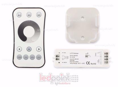 Image de Kit télécommande + contrôleur monocouleur avec bouton 5/36V, 1ch*8A, RF 2.4G