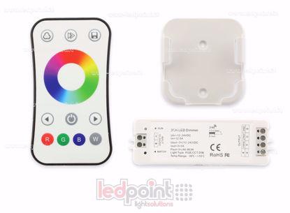 Image de Kit télécommande + contrôleur RGB 12/24V, 3ch*4A, RF 2.4G
