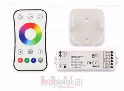 Image de Kit télécommande + contrôleur RGBW 12/24V,  4ch*6A, Max 15A, RF 2.4G