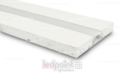 Image de Profilé en aluminium avec placoplâtre 44x12mm, 2 mètres