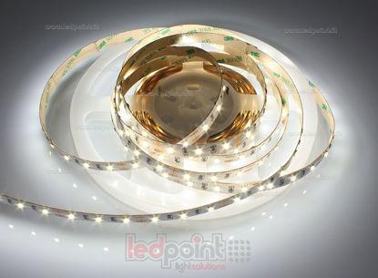 Image de Ruban led blanc naturel 5m 4000-4250K 60leds/m Honglitronic 2835 12V 14,4W/m