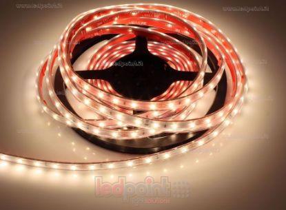 Image de Ruban led blanc chaud 5m 3000K 3step 60leds/m 2835 12V 4,8W/m, IP64 tube en silicone extrudé, bords pleins et vide à l'interieur