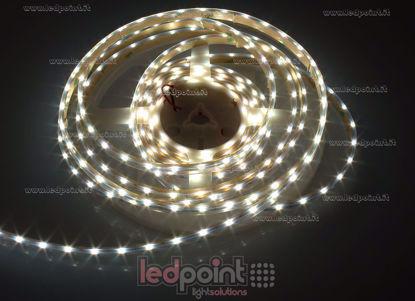 Image de Ruban led blanc naturel 5m 4000-4500K 60leds/m 3014 side led 12V 4,8W/m, IP64 tube silicone épais, PCB 5mm